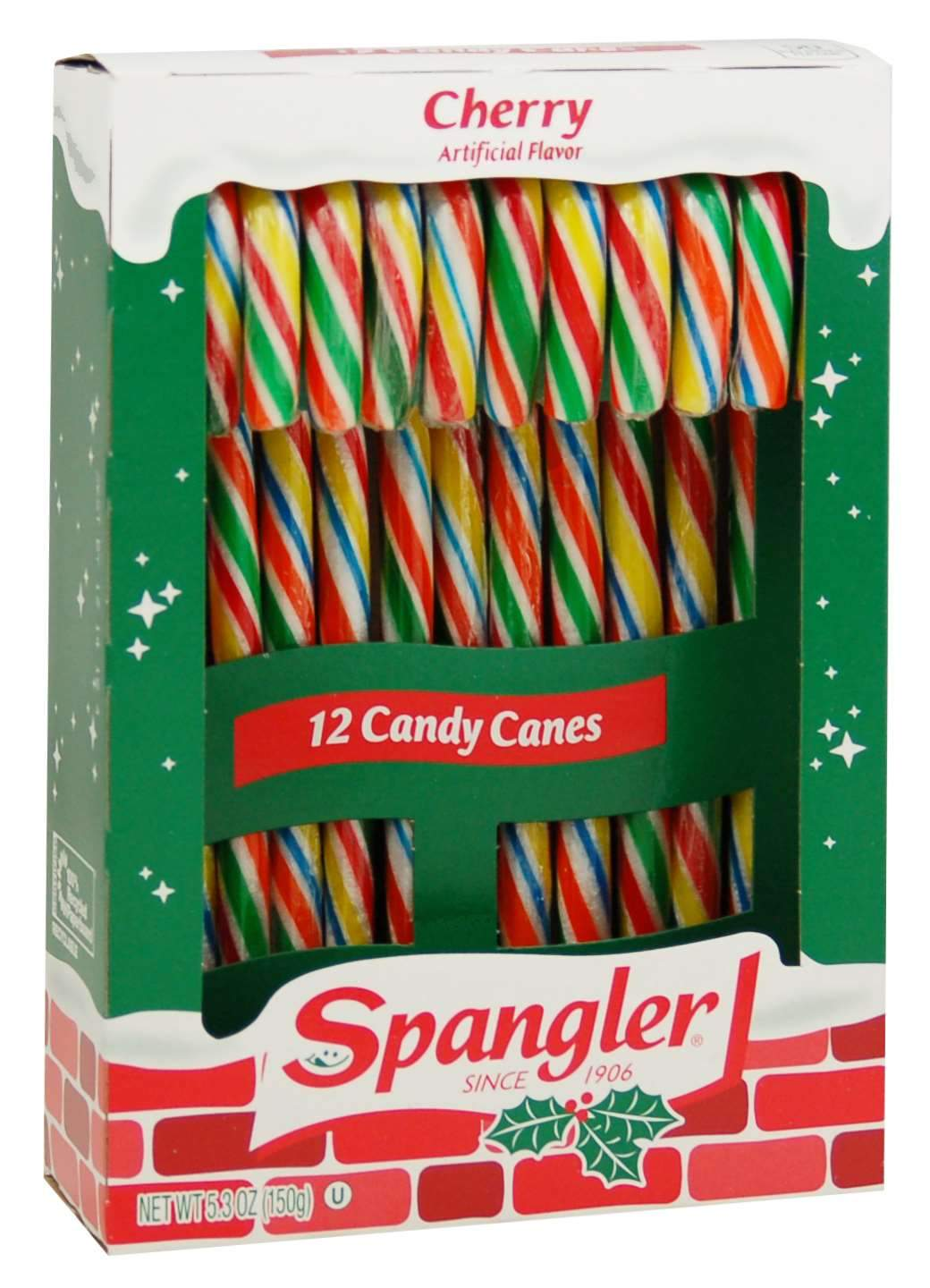 Spangler Candy Canes Spangler Cherry 12 Ct-5.3 Ounce