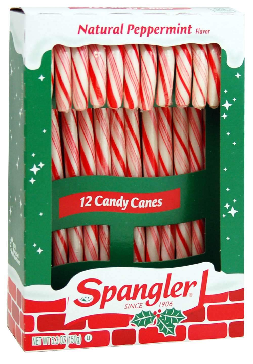 Spangler Candy Canes Spangler Peppermint 12 Ct-5.3 Ounce