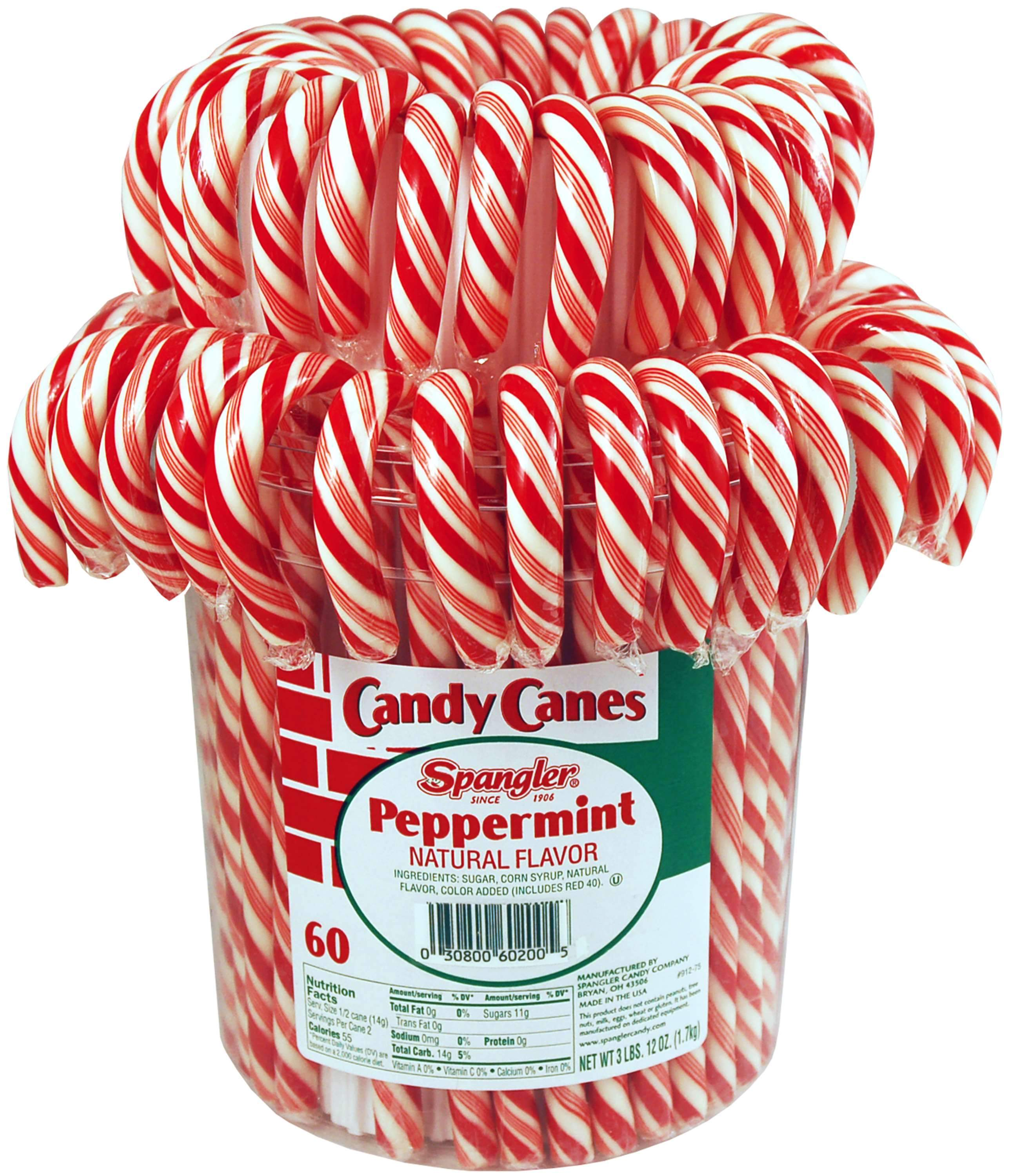 Spangler Candy Canes Spangler Peppermint 60 Ct-60 Ounce