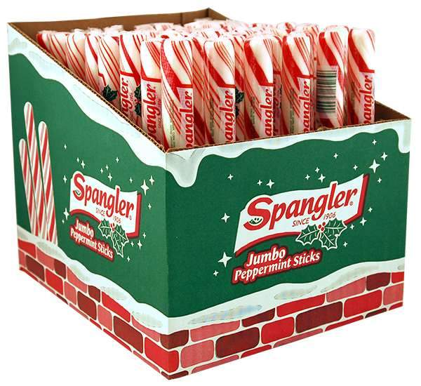 Spangler Candy Canes Spangler Peppermint Jumbo 3.5 Oz-48 Count