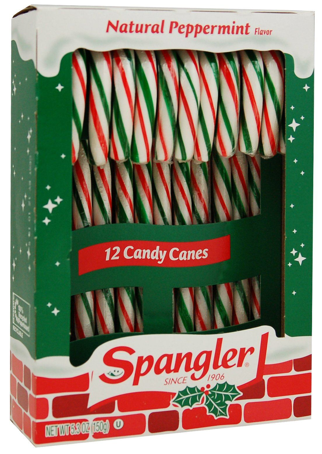 Spangler Candy Canes Spangler Red, Green & White 12 Ct-5.3 Ounce