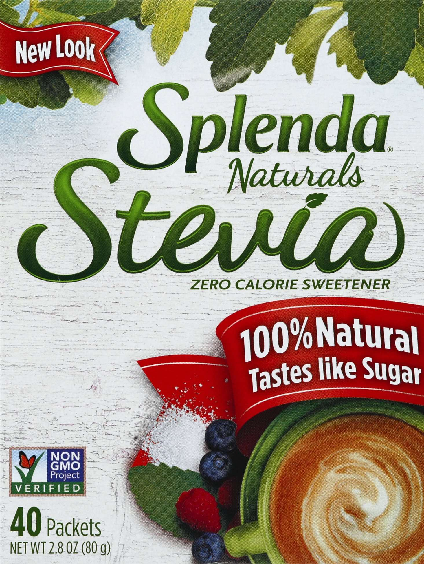 Splenda Stevia Sweeteners Splenda Packets 40 Count