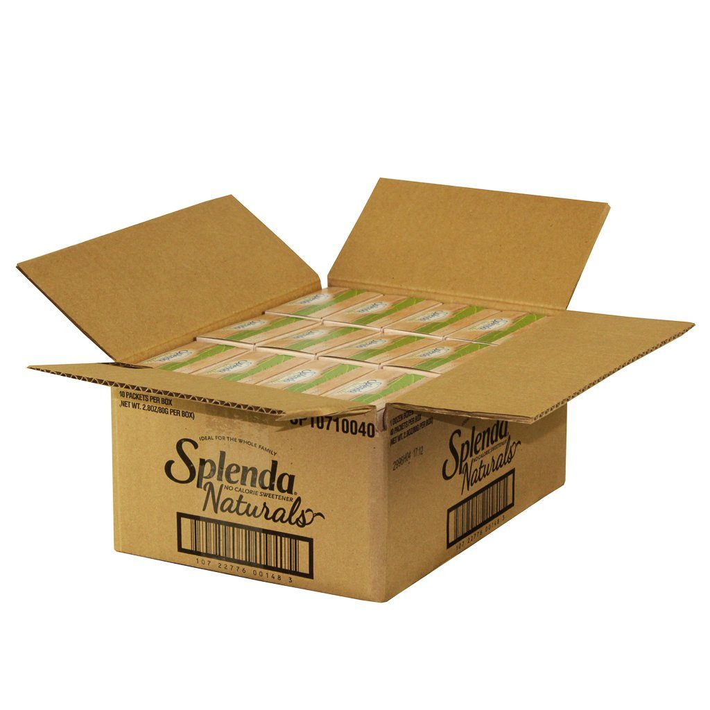 Splenda Stevia Sweeteners Splenda Packets 40 Ct-12 Count