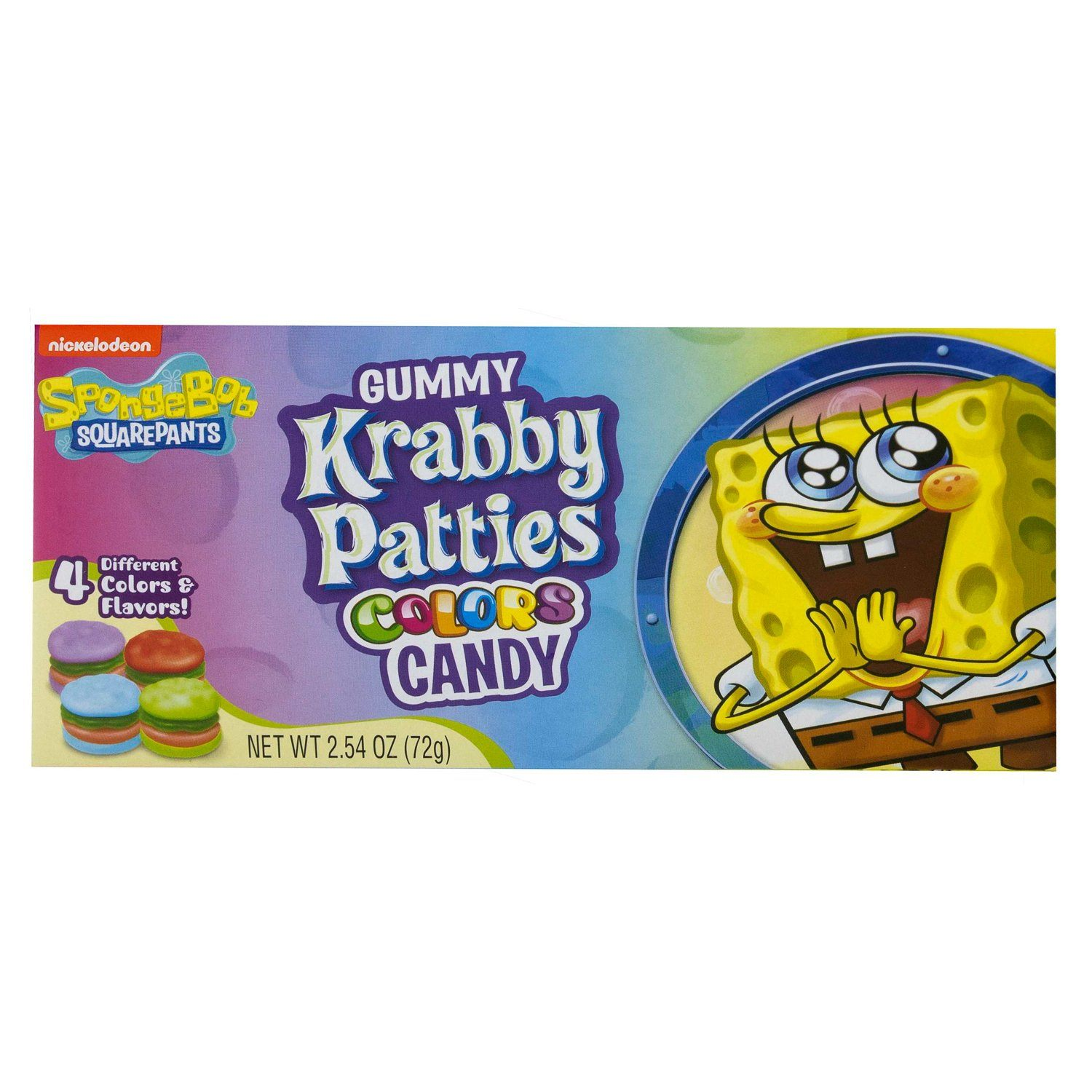 SpongeBob SquarePants Gummy Krabby Patties Candies Frankford Candy Colors Theater Box - 2.54 Ounce