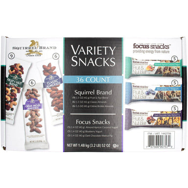 Squirrel Brand and Focus Snacks Fruit & Nut Variety Snacks Squirrel Brand 36 Count