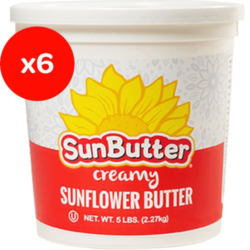 SunButter Sunflower Butter SunButter Creamy 5 Pound-6 Count
