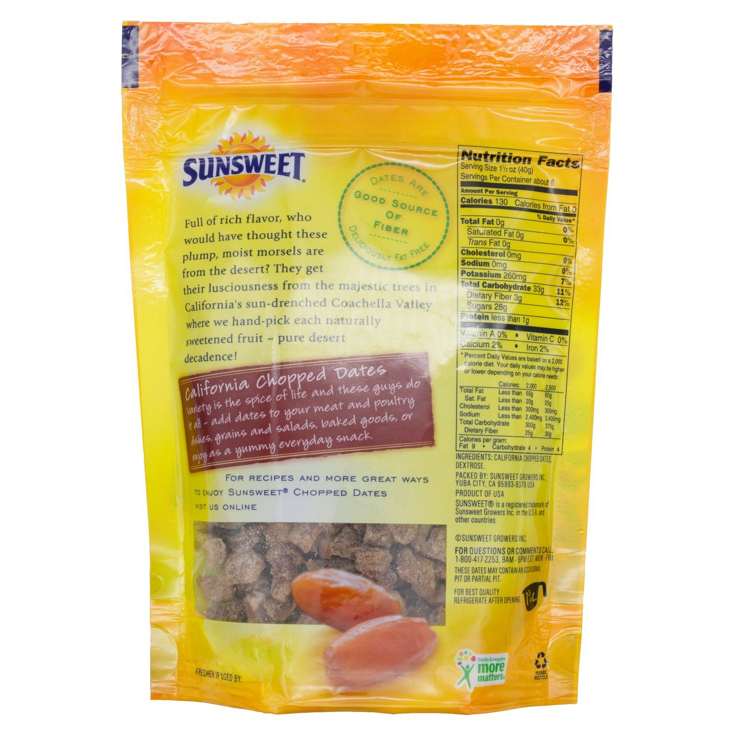 Sunsweet Dried Dates Sunsweet