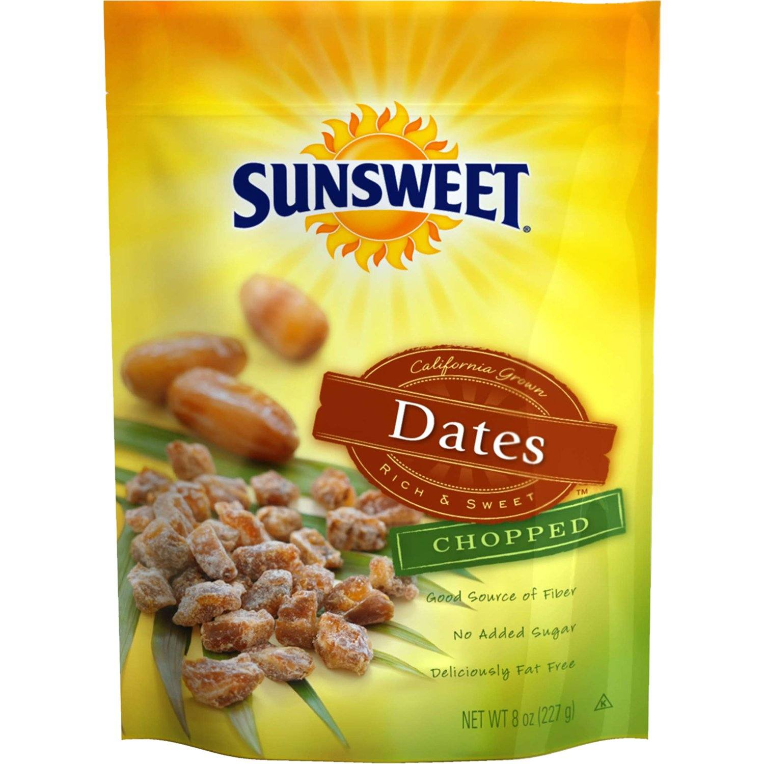 Sunsweet Dried Dates Sunsweet Chopped 8 Ounce Pouch