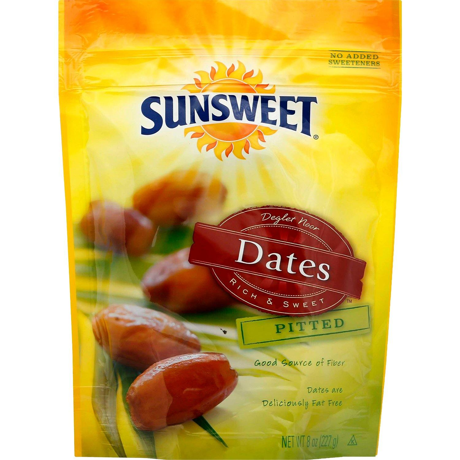 Sunsweet Dried Dates Sunsweet Pitted 8 Ounce Pouch