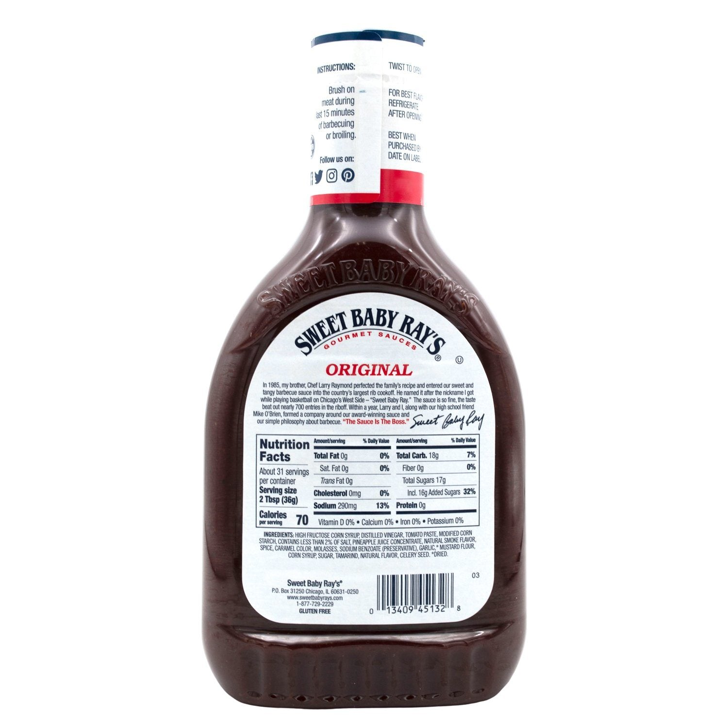Sweet Baby Ray's Barbecue Sauce Sweet Baby Ray's