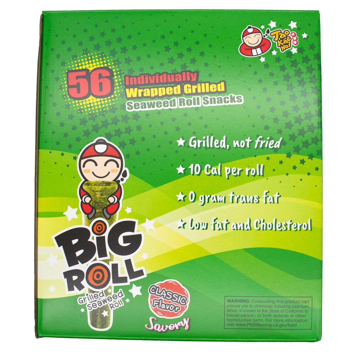 Tao Kae Noi Big Roll Grilled Seaweed Tao Kae Noi Original 0.11 Oz-56 Count