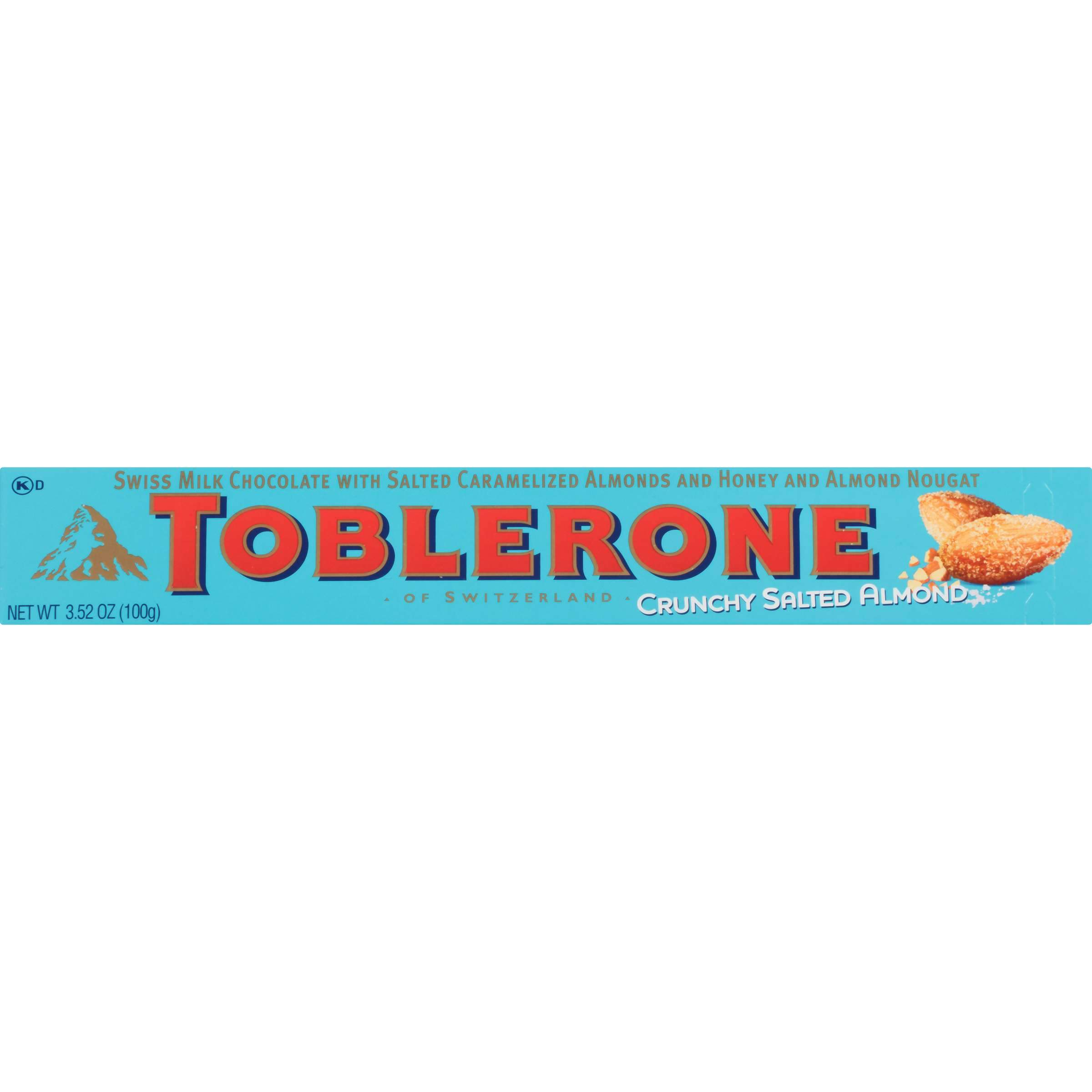 Toblerone Swiss Chocolate with Honey & Almond Nougat Meltable Toblerone Crunchy Salted Almond 3.52 Ounce