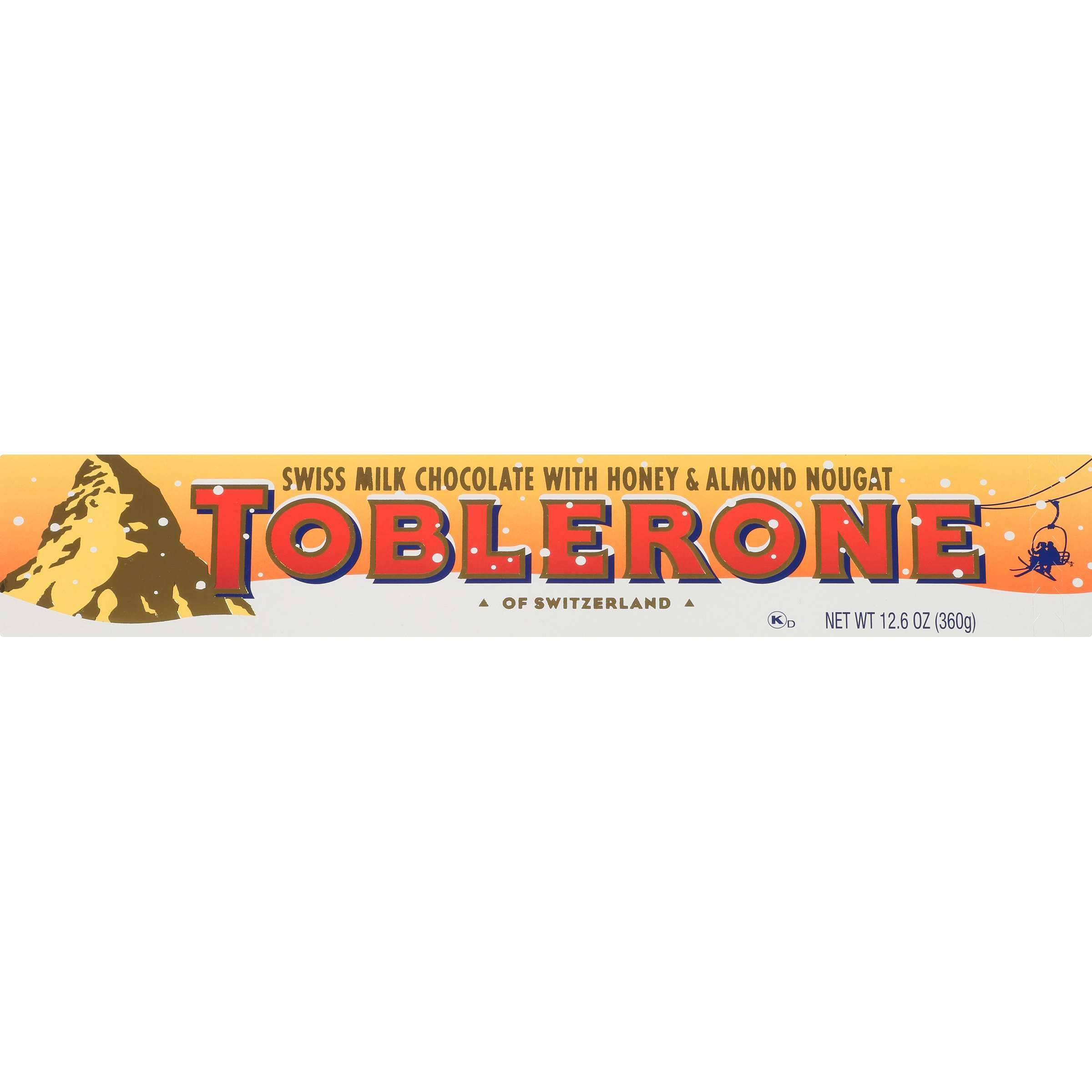 Toblerone Swiss Chocolate with Honey & Almond Nougat Meltable Toblerone Holiday 12.6 Ounce