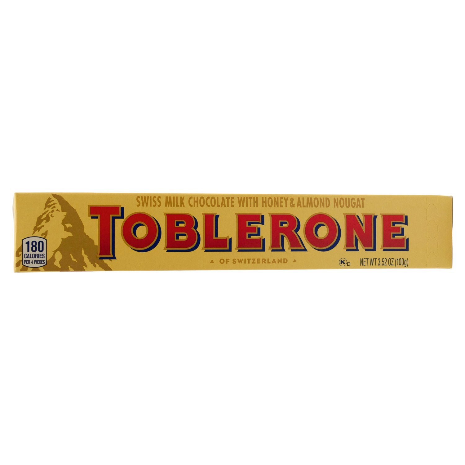 Toblerone Swiss Chocolate with Honey & Almond Nougat Meltable Toblerone Original 3.52 Ounce