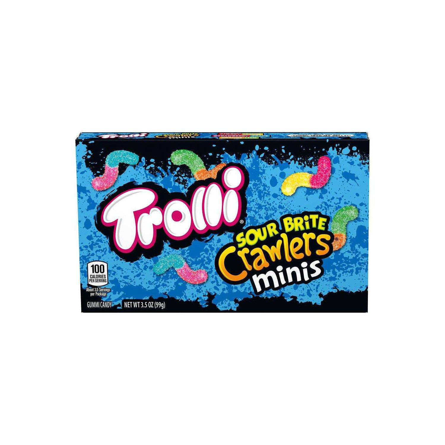 Trolli Crawlers Meltable Trolli Sour Brite Minis 3.5 Ounce