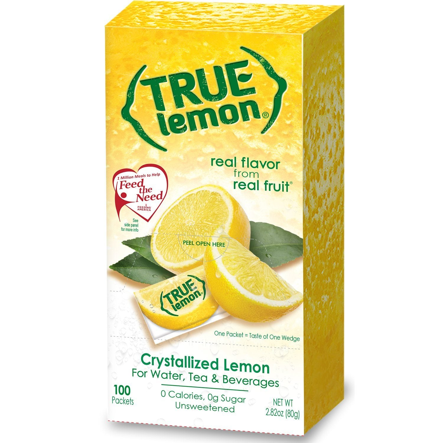 True Citrus Zero Calorie Unsweetened Water Enhancers True Citrus True Lemon 100 Count - 2.82 Ounce
