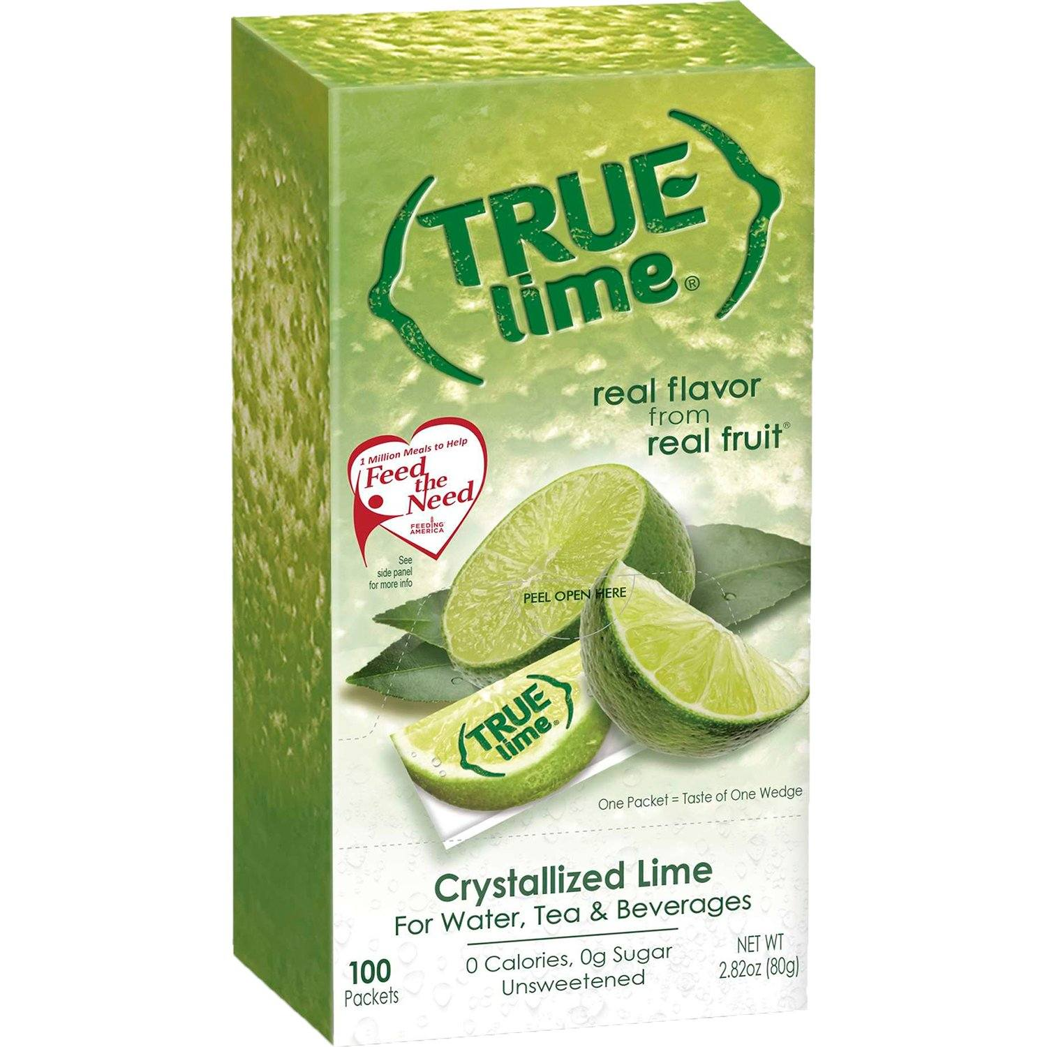 True Citrus Zero Calorie Unsweetened Water Enhancers True Citrus True Lime 100 Count - 2.82 Ounce