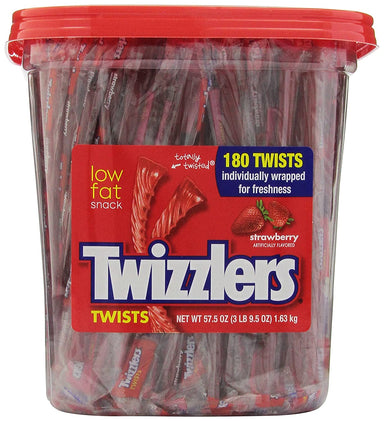 Twizzlers Twists Twizzlers Strawberry 180 Count Tub
