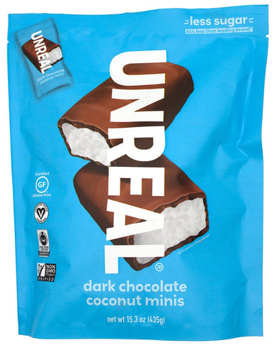 UNREAL Chocolate Bars UNREAL Dark Chocolate Coconut Mini 15.3 Ounce