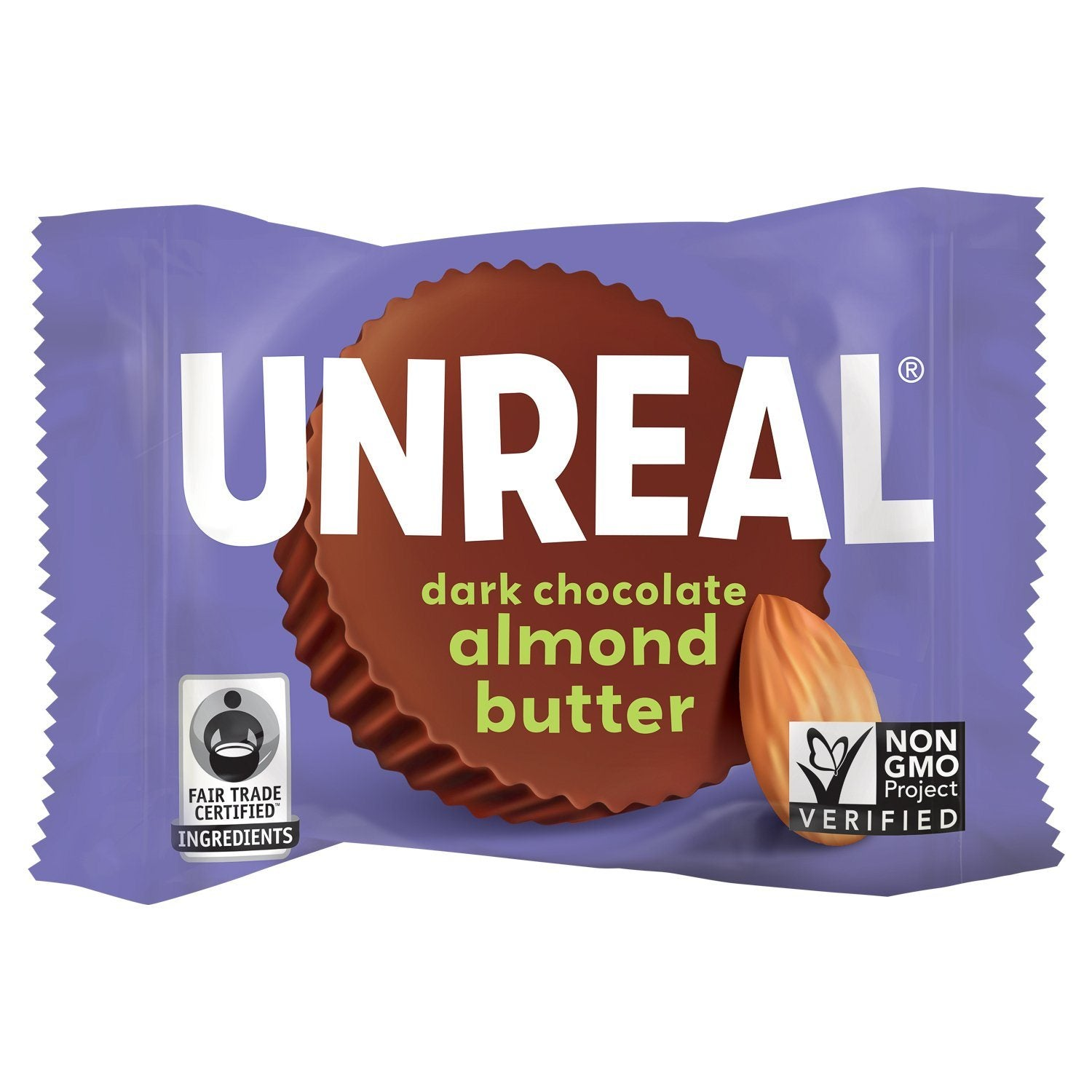 UNREAL Dark Chocolate Butter Cups Meltable UNREAL Almond Butter 0.5 Ounce