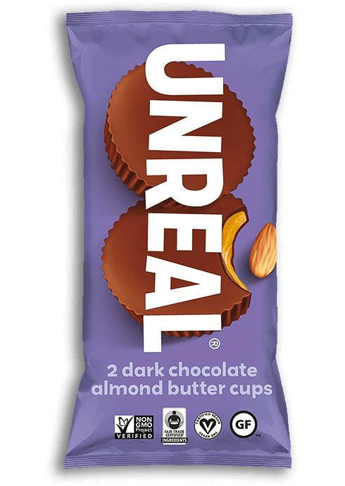 UNREAL Dark Chocolate Butter Cups Meltable UNREAL Almond Butter 1.1 Ounce