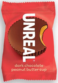 UNREAL Dark Chocolate Butter Cups Meltable UNREAL Peanut Butter 0.5 Ounce
