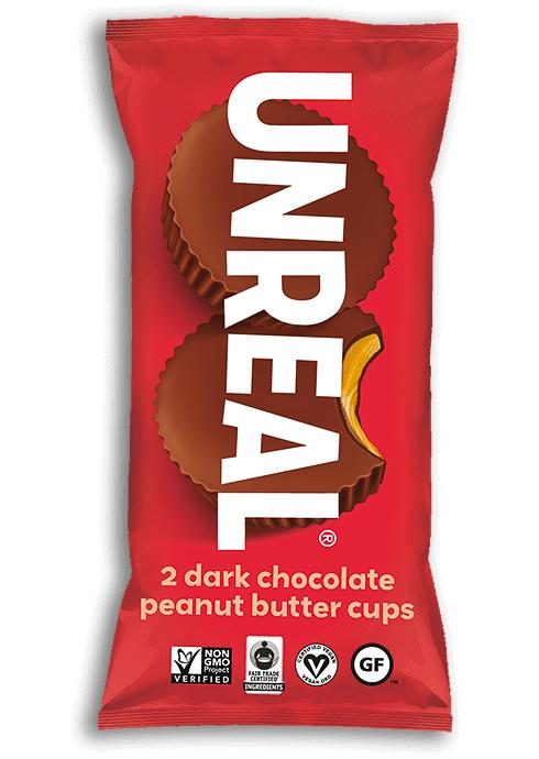 UNREAL Dark Chocolate Butter Cups Meltable UNREAL Peanut Butter 1.1 Ounce
