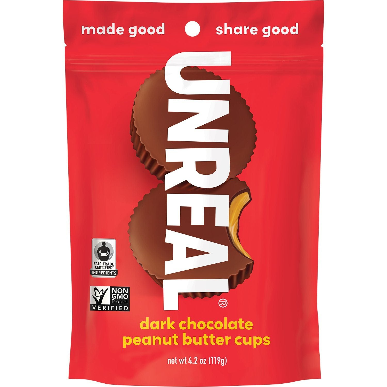 UNREAL Dark Chocolate Butter Cups Meltable UNREAL Peanut Butter 4.2 Ounce