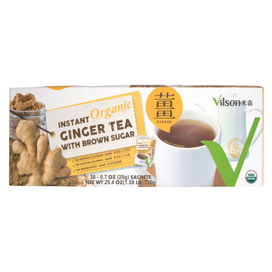 Vilson Organic Ginger Tea With Brown Sugar Vilson 0.7 Oz-32 Count