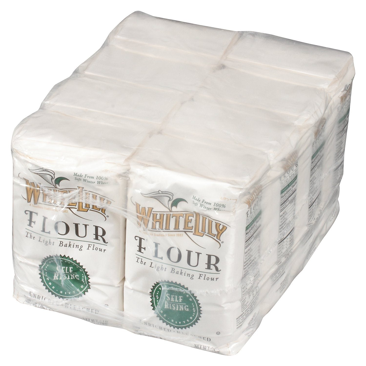 White Lily Self Rising Bleached Flour White Lily 5 Lb-8 Count
