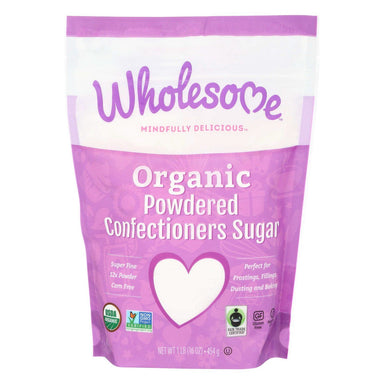 Wholesome Sweeteners Organic Powdered Sugar Wholesome Sweeteners 12x Powder Fair Trade 1 Pound