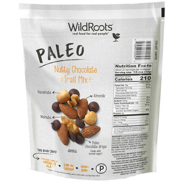 WildRoots Paleo Nutty Chocolate Trail Mix, 26 Ounce WildRoots
