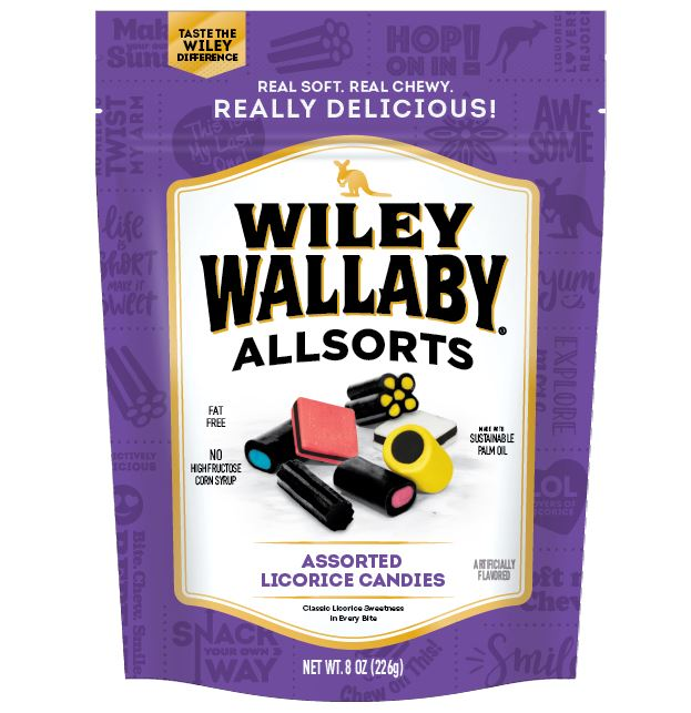Wiley Wallaby Licorice Wiley Wallaby Allsorts 8 Ounce