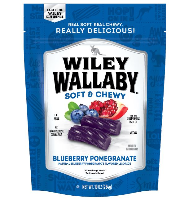 Wiley Wallaby Licorice Wiley Wallaby Blueberry Pomegranate 10 Ounce