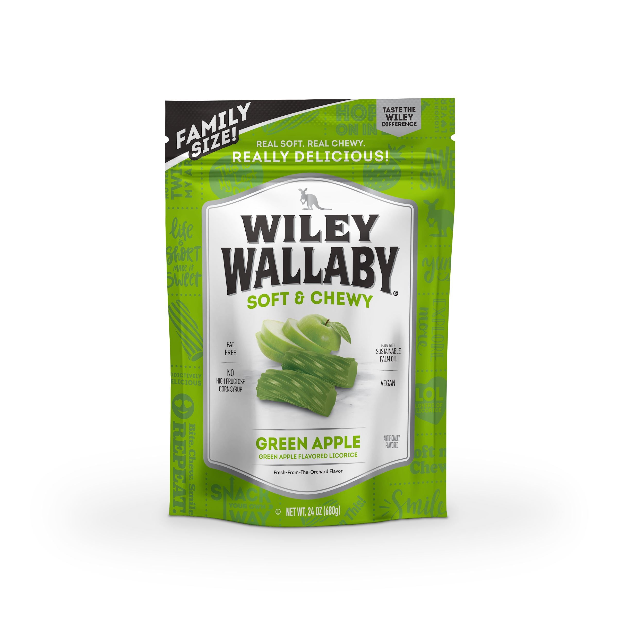 Wiley Wallaby Licorice Wiley Wallaby Green Apple 24 Ounce
