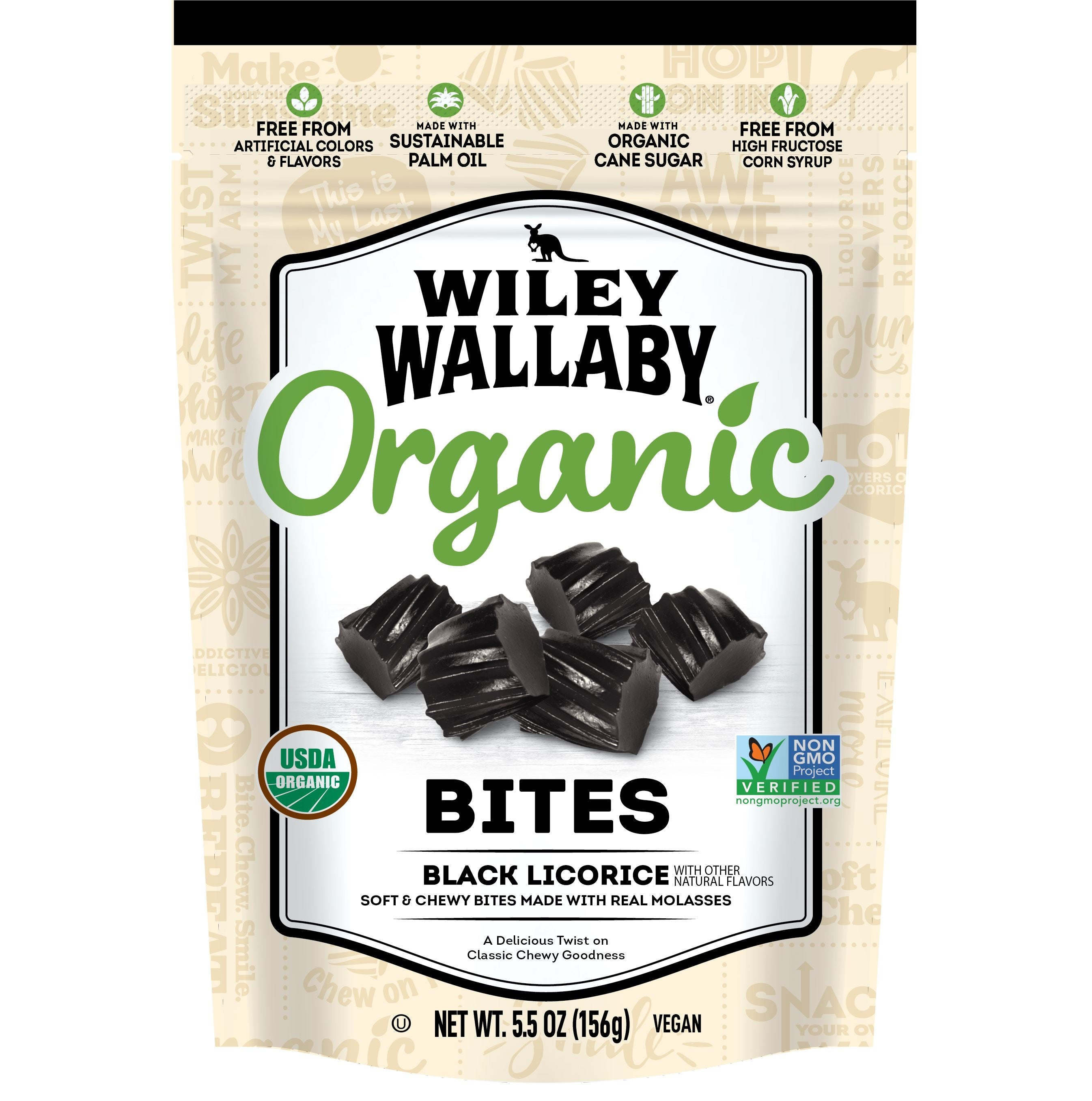 Wiley Wallaby Licorice Wiley Wallaby Organic Black 6 Ounce