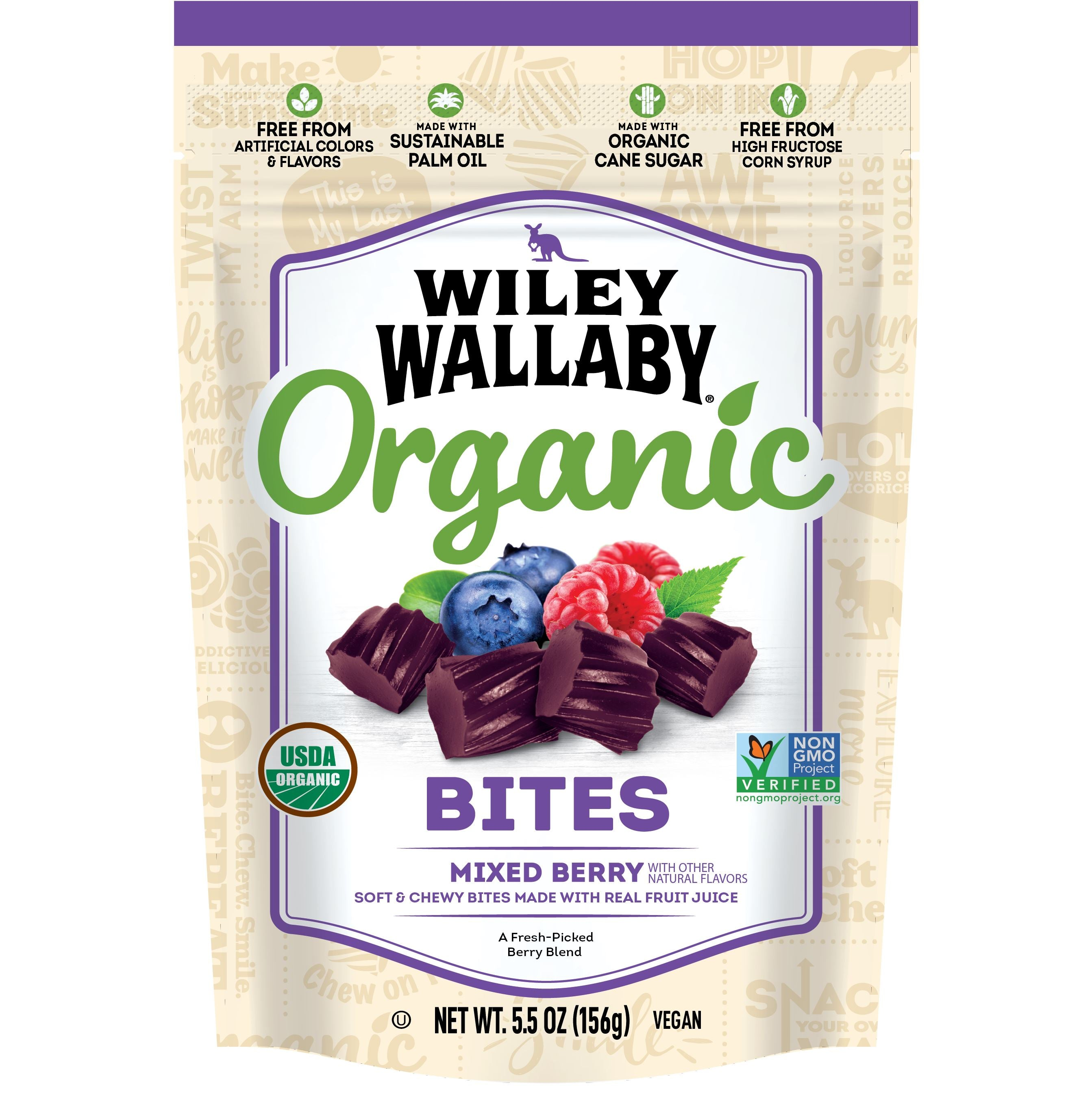 Wiley Wallaby Licorice Wiley Wallaby Organic Mixed Berry 5.5 Ounce