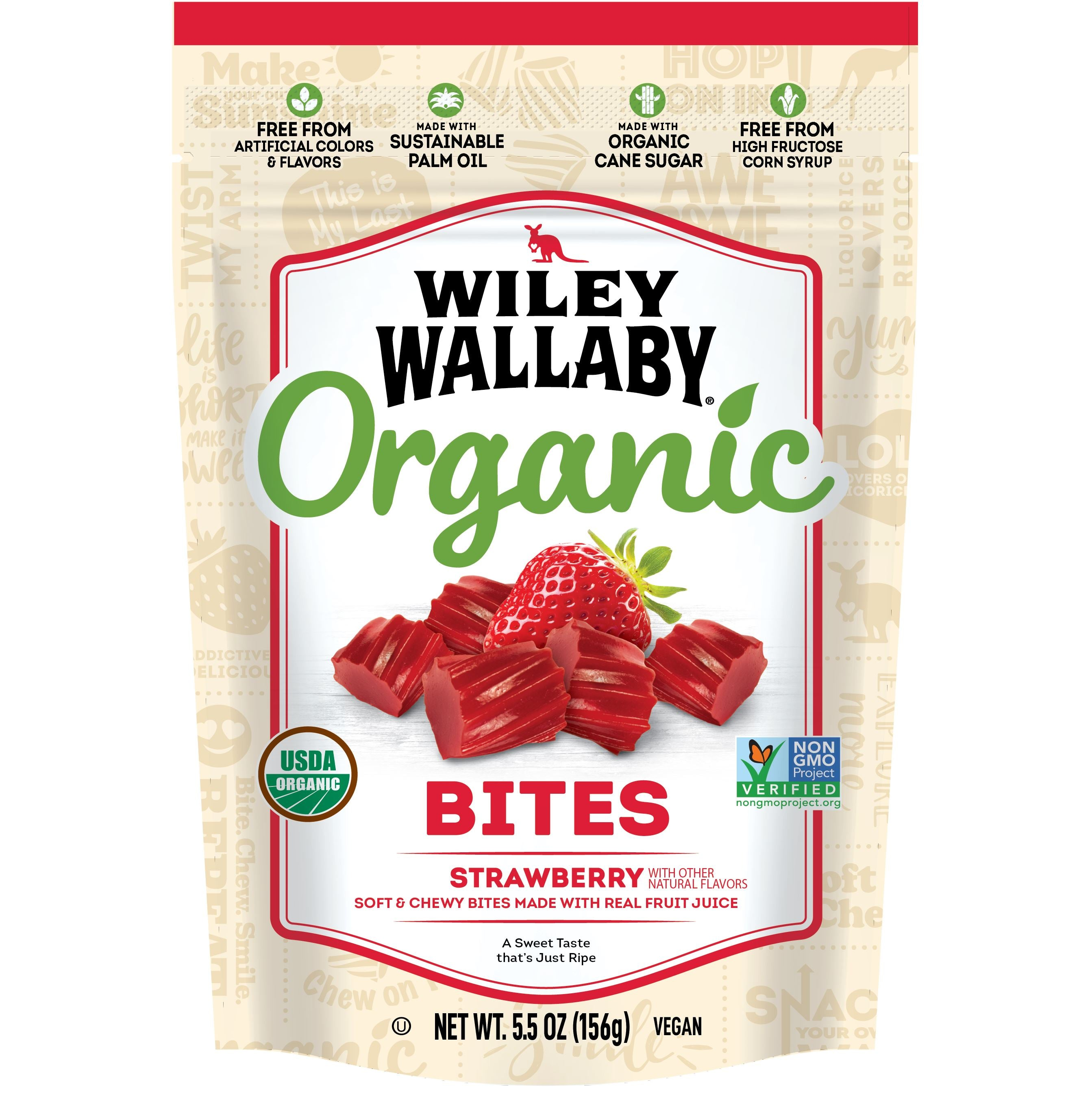 Wiley Wallaby Licorice Wiley Wallaby Organic Strawberry 5.5 Ounce