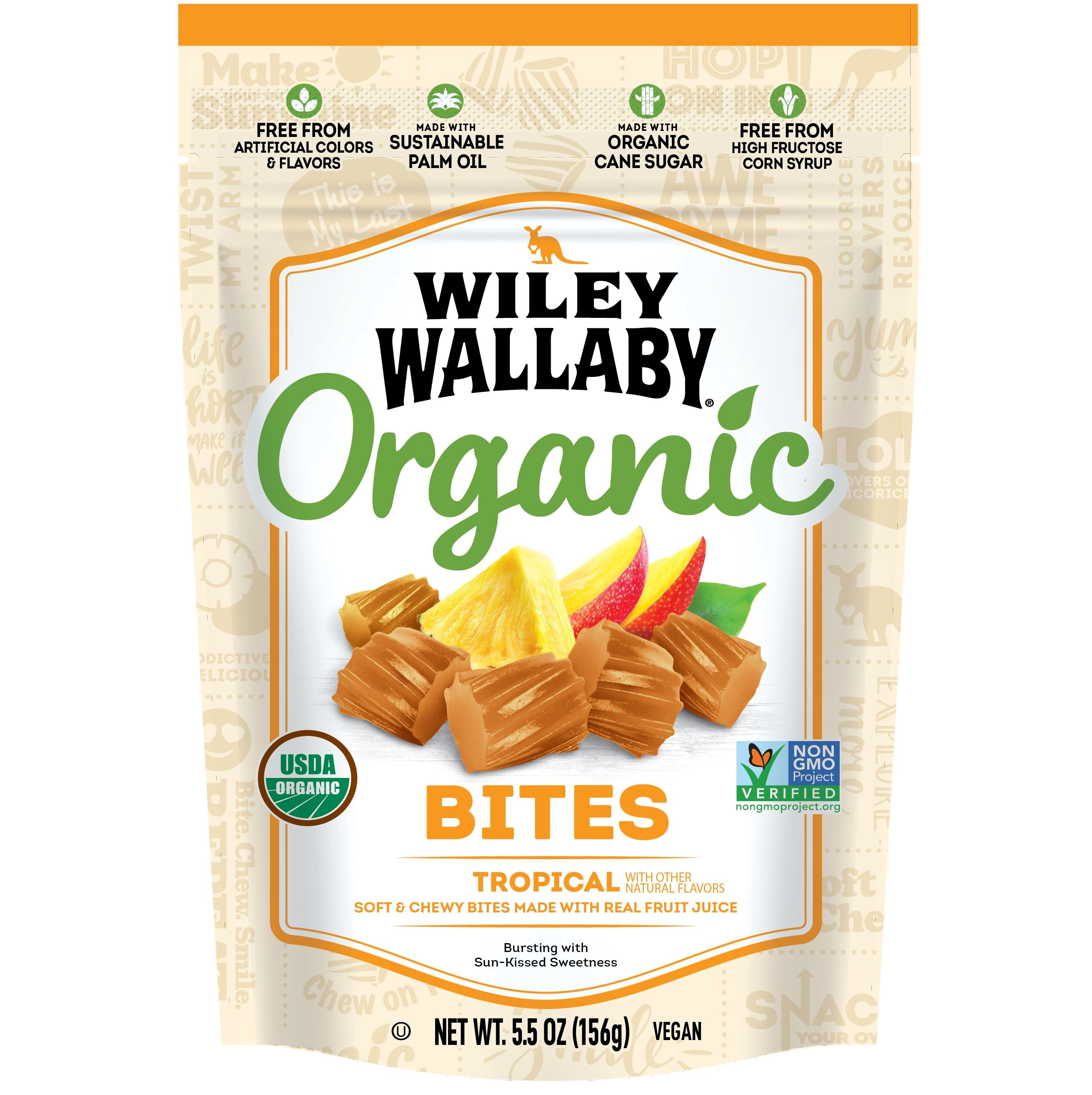 Wiley Wallaby Licorice Wiley Wallaby Organic Tropical 5.5 Ounce