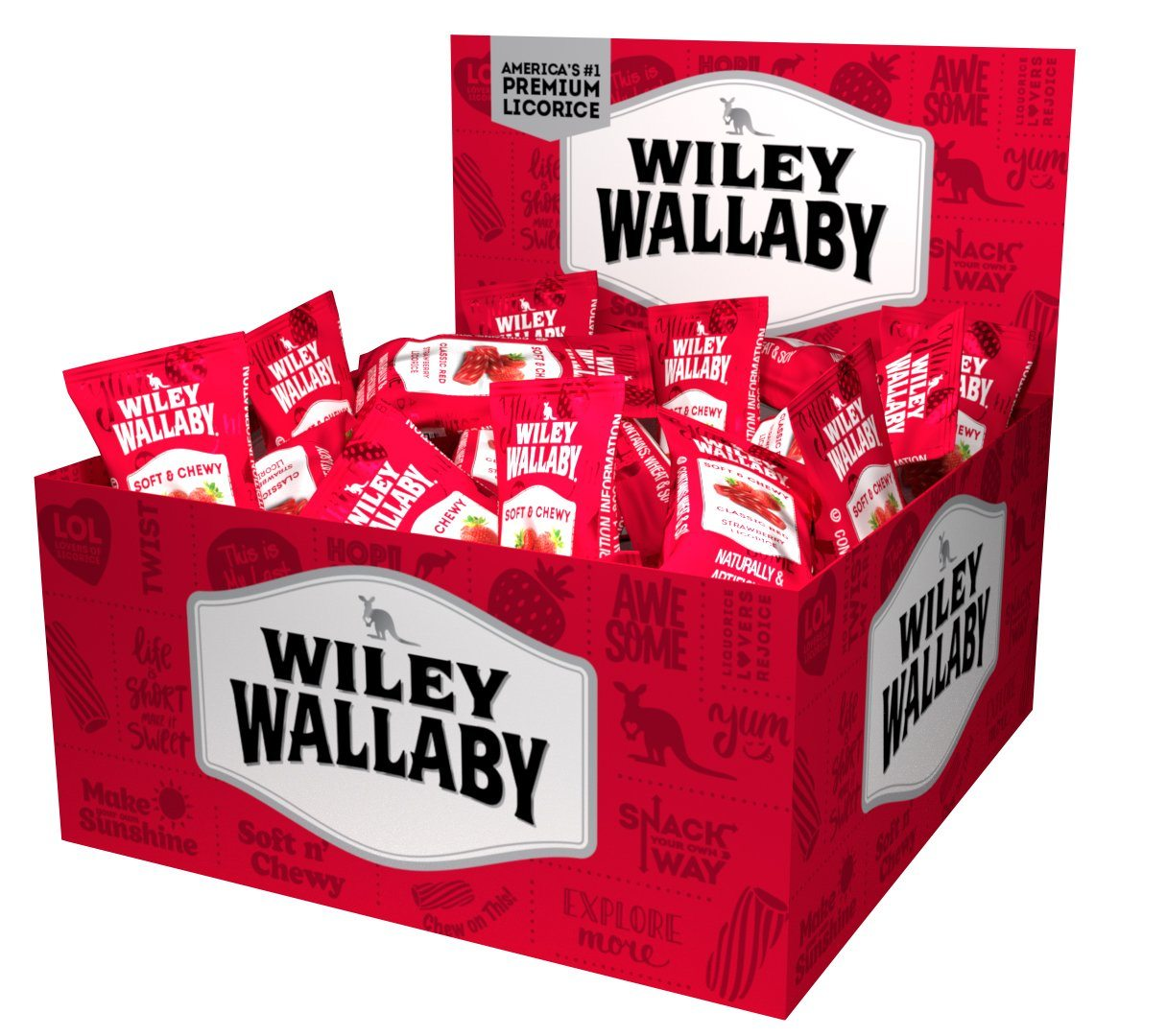 Wiley Wallaby Licorice Wiley Wallaby Original Red 0.28 Oz-50 Count