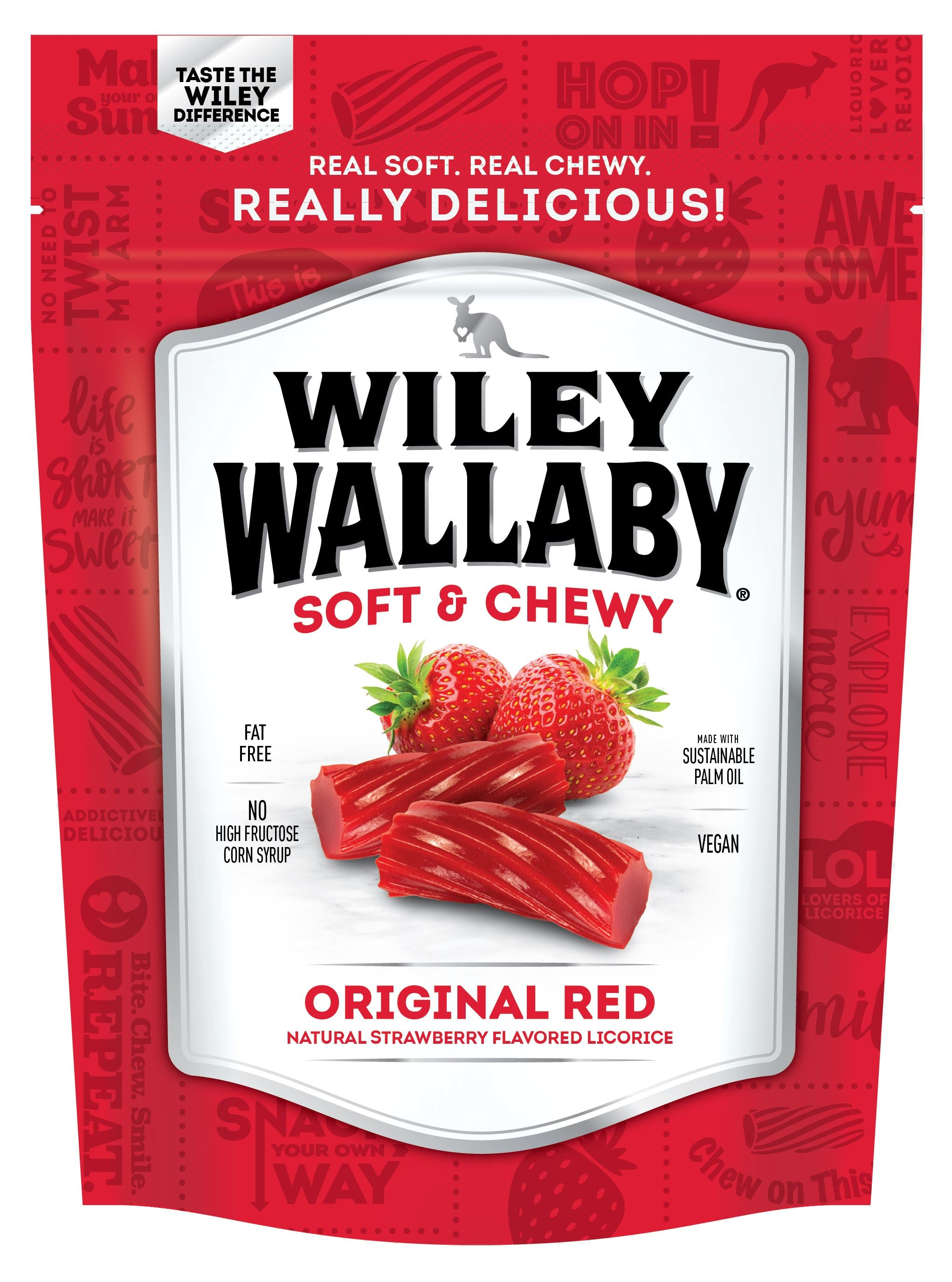 Wiley Wallaby Licorice Wiley Wallaby Original Red 10 Ounce