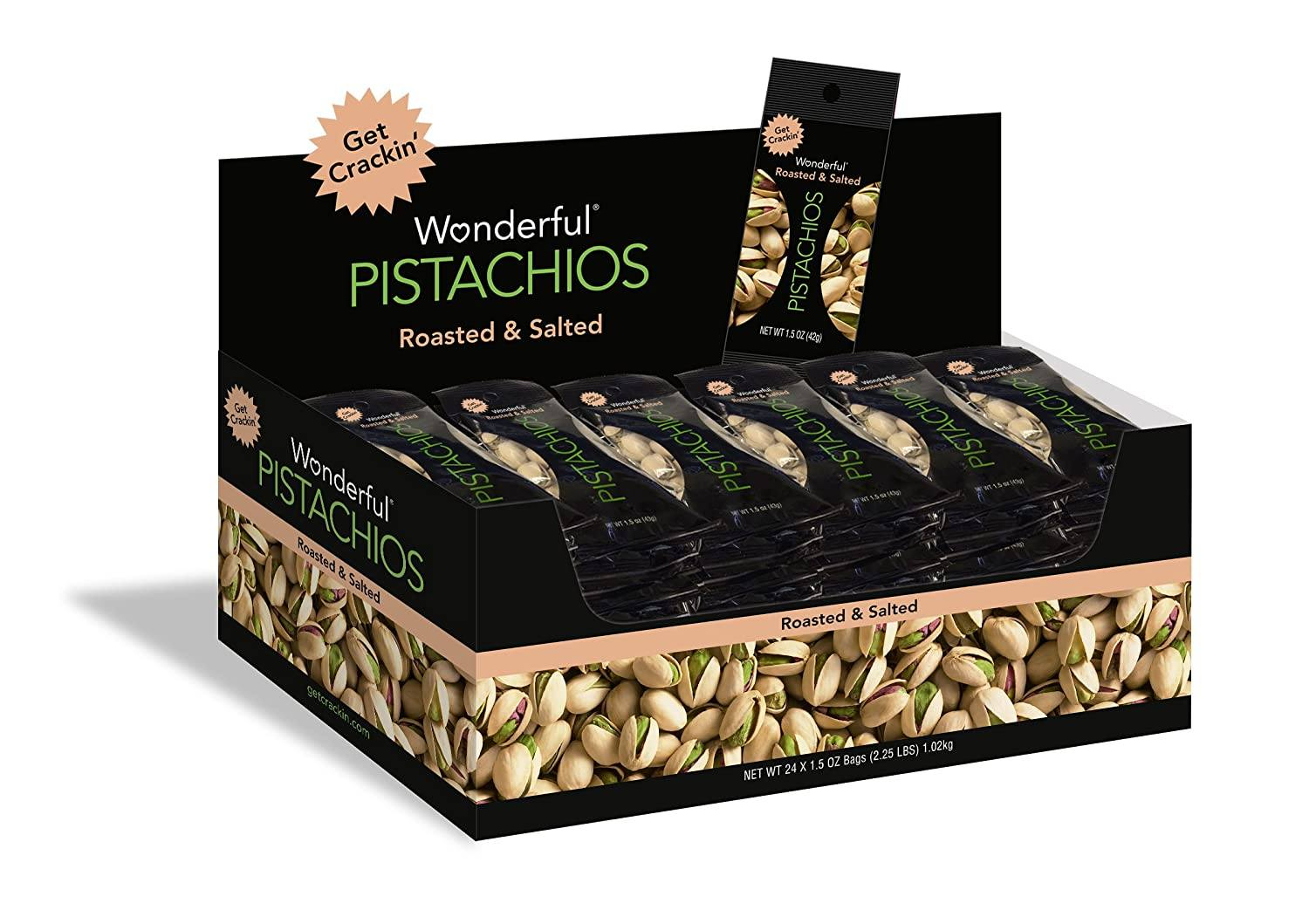 Wonderful Pistachios Wonderful Pistachios & Almonds Roasted & Salted 1.5 Oz-24 Count