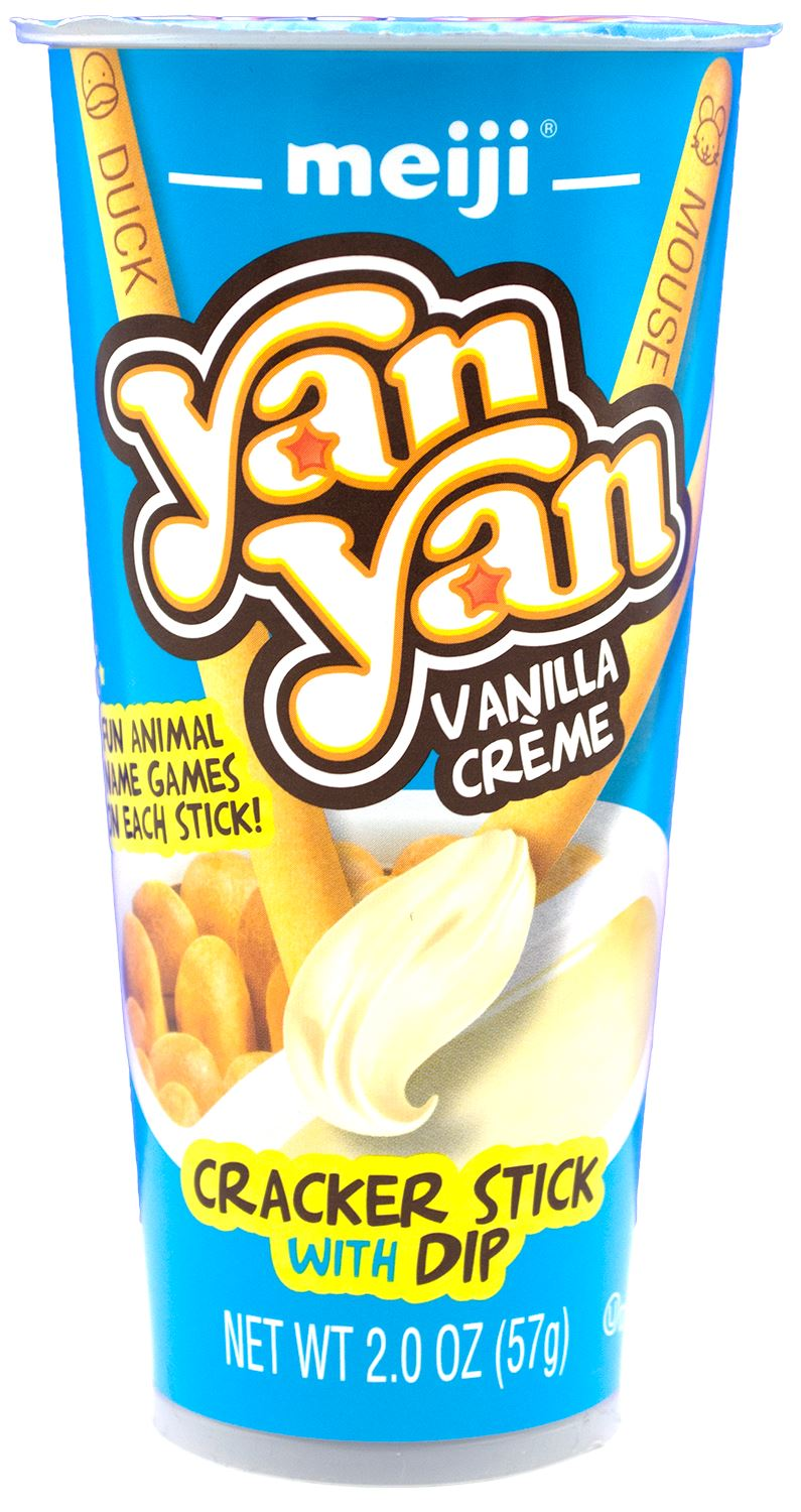 Yan Yan Cracker Stick with Dip Meiji Vanilla Crème 2 Ounce