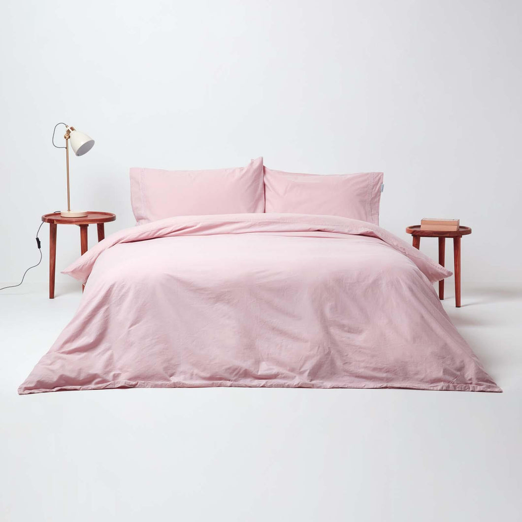 Stonewashed Blush Duvet Cover Set