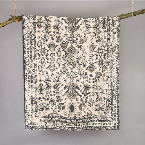 Kittisford Vintage Printed Grey Rug