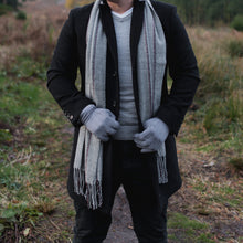 Load image into Gallery viewer, Hector Men's Wide Check Grey Scarf