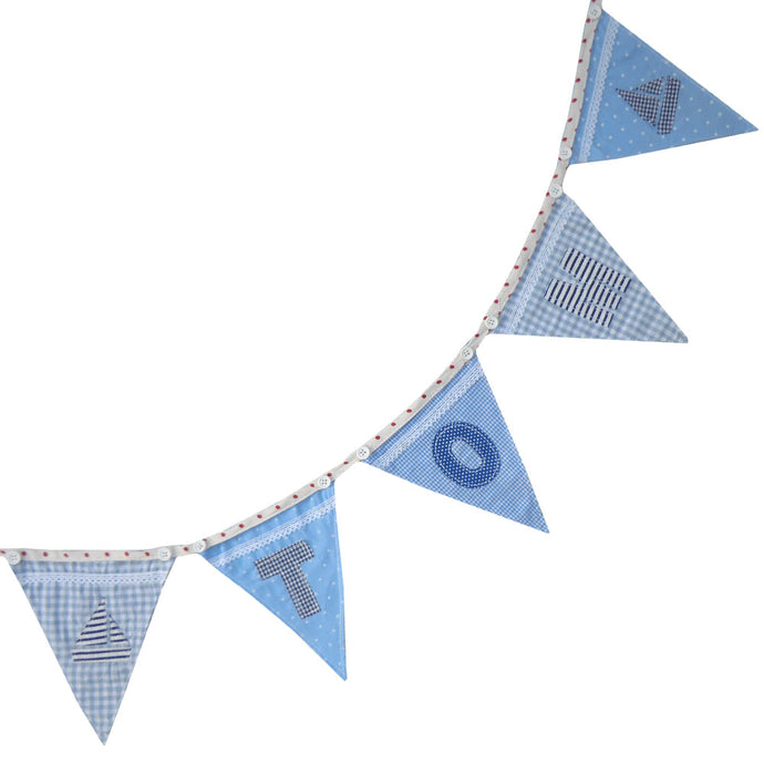 Boys Blue Letter Bunting
