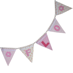 Girls Pink Letter Bunting