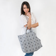 Load image into Gallery viewer, Lydia Blue Foldaway Bag
