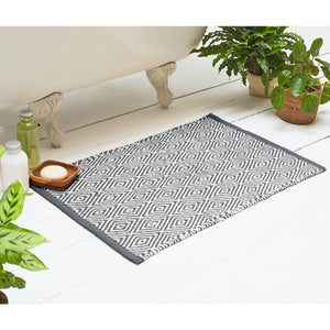 Bathmat Diamond Grey